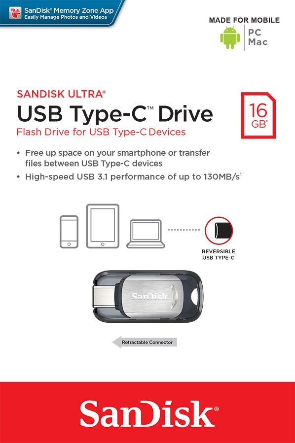 Sandisk Ultra 16GB USB Type C Drive