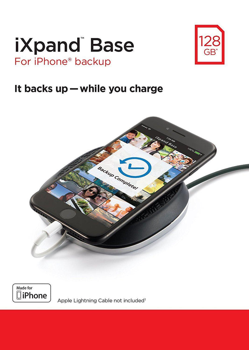 Sandisk 128GB iXpand Base Charge/Backup for Iphone