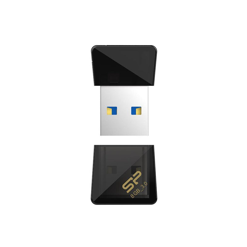 Silicon Power 8GB Jewel J08 USB 3.0 Flash Drive- Black