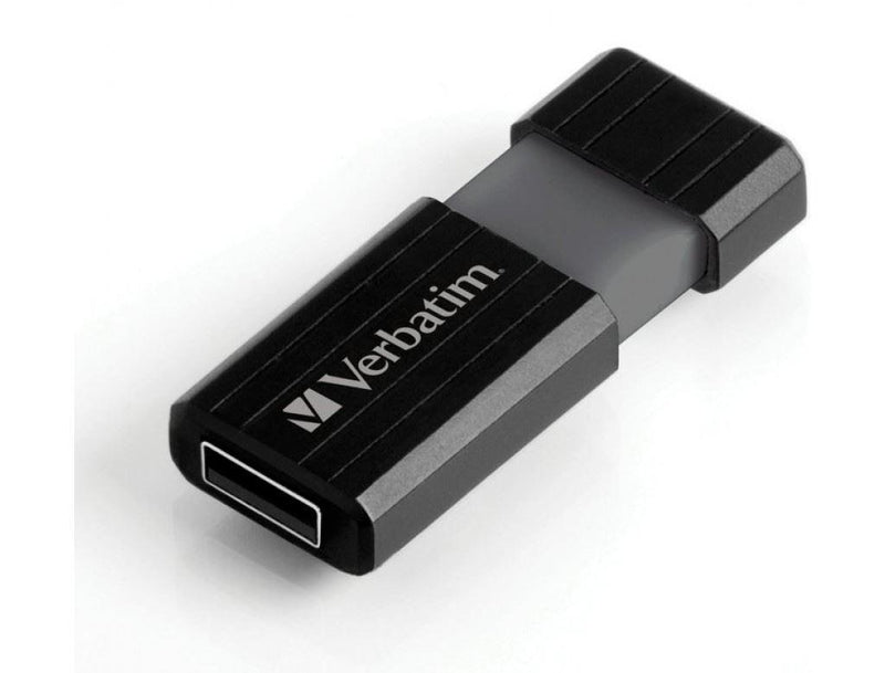 Verbatim 32GB Pinstripe USB Flash Drive- Black