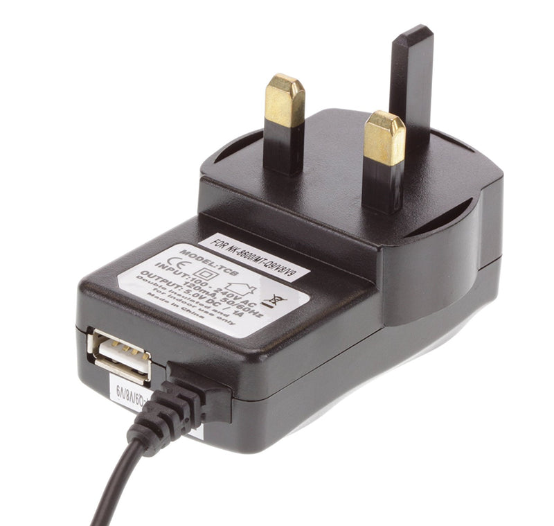 8600 Mains Charger with USB Port