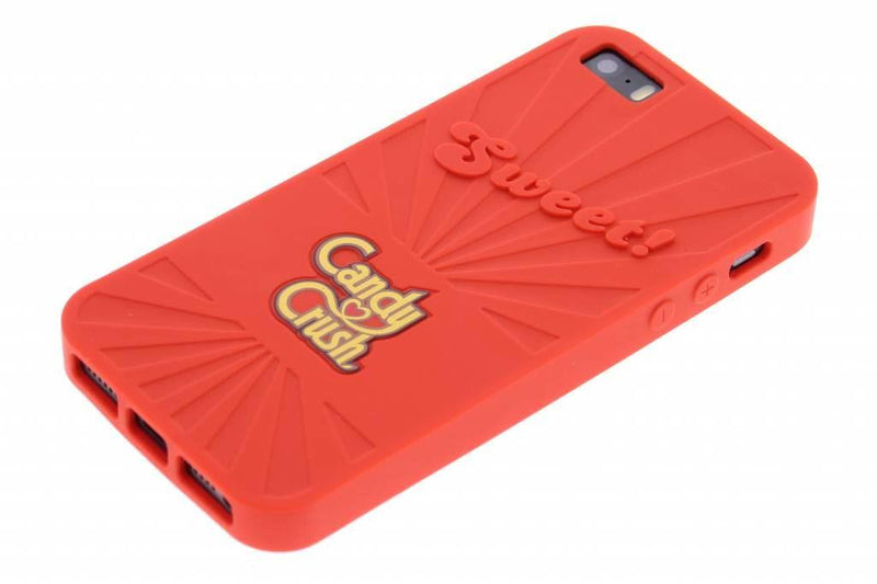 Candy Crush Scented Silicone Phone Case For iphone 5 Strawberry Red