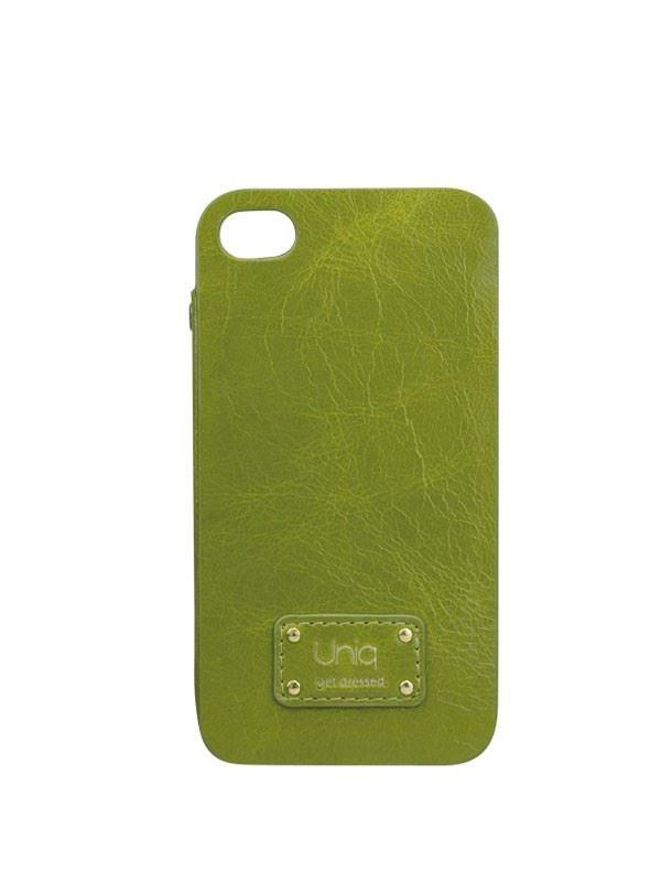 Uniq Soiree Lime Midori Luxury Genuine Leather Phone Cover for Iphone 4/4S