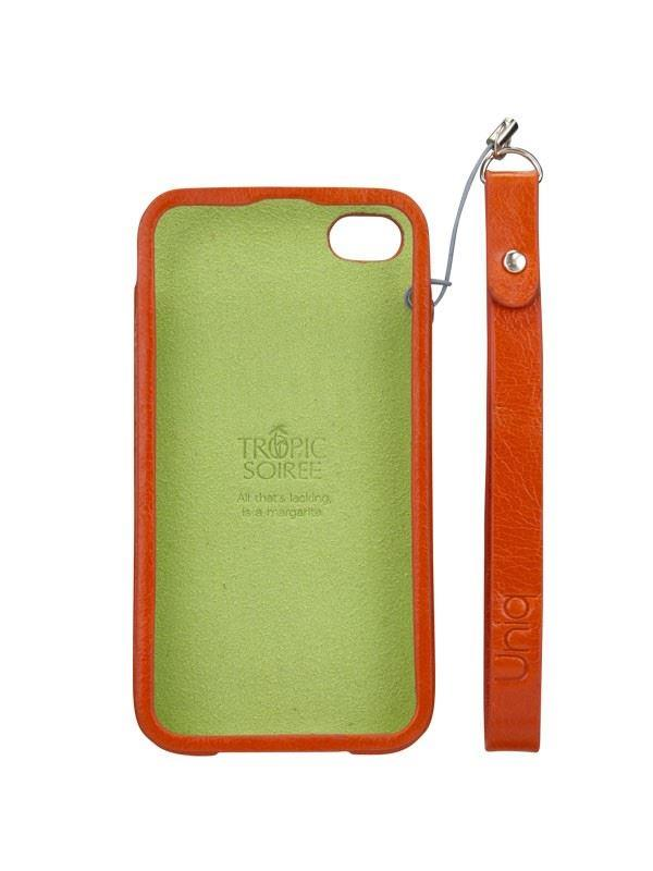 Uniq Soiree Orange Vodka Luxury Genuine Leather Phone Cover for Iphone 4/4S