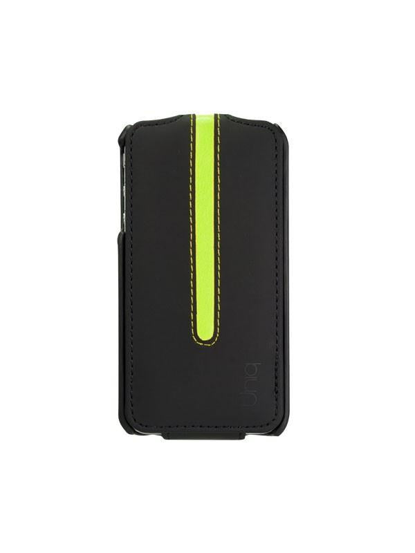 Uniq Neon Blackout Lime iPhone4/4S Premium Flip Case