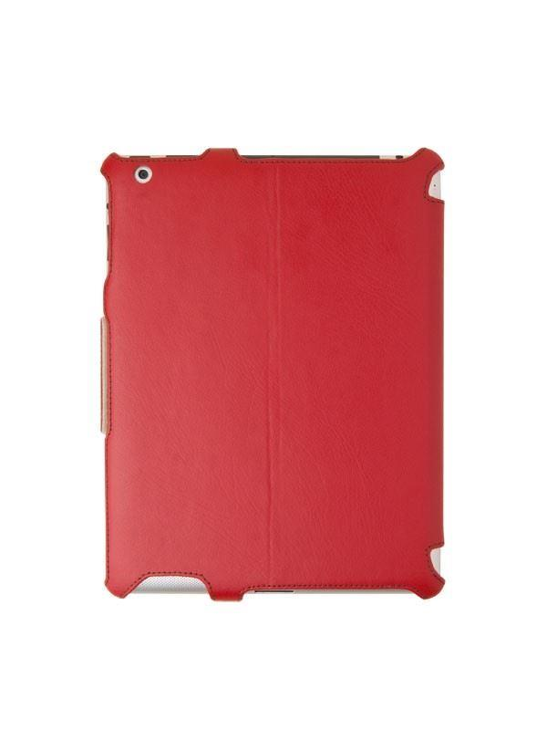 Uniq Cabrio Regal Flame Red Genuine Leather Case for Ipad3/4
