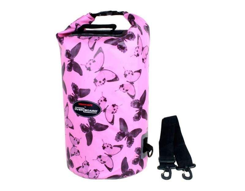 Overboard Waterproof Urban Safe Butterflies Dry Tube 20Ltr- Pink