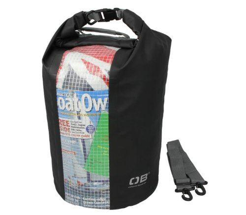 Overboard Waterproof Dry Tube with Clear Window 30 Ltr- Black