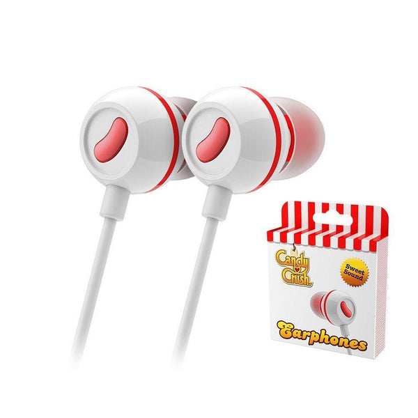 Candy Crush In Ear Headphones - Strawberry
