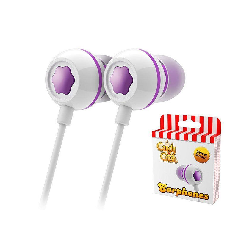 Candy Crush In Ear Headphones - Grape