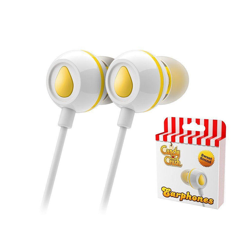 Candy Crush In Ear Headphones - Lemon