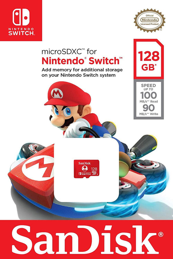 Sandisk 128GB microSDXC UHS-I card for Nintendo Switch U3, 100MB/s