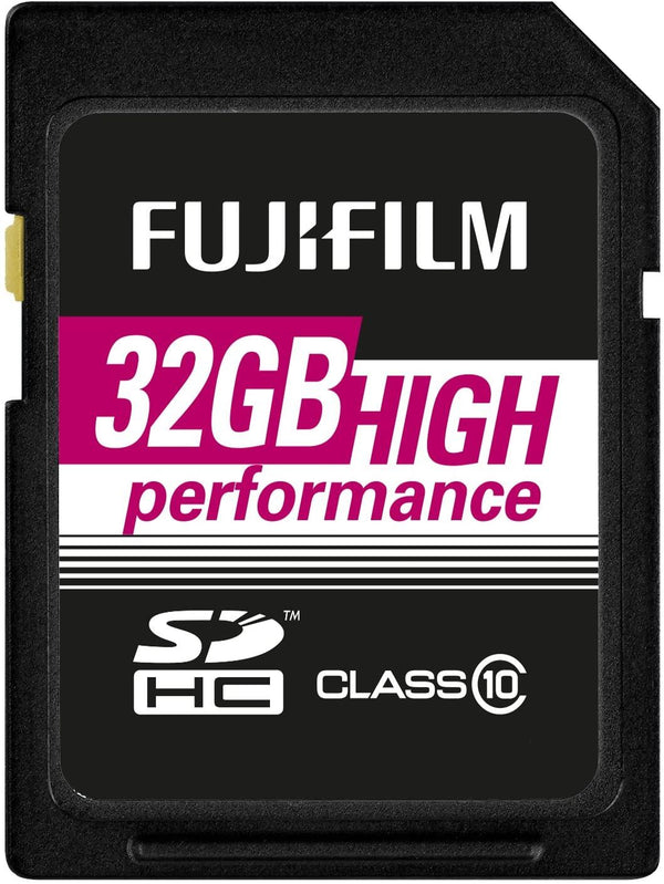 FujiFilm 32GB High Performance SDHC Card, Class 10