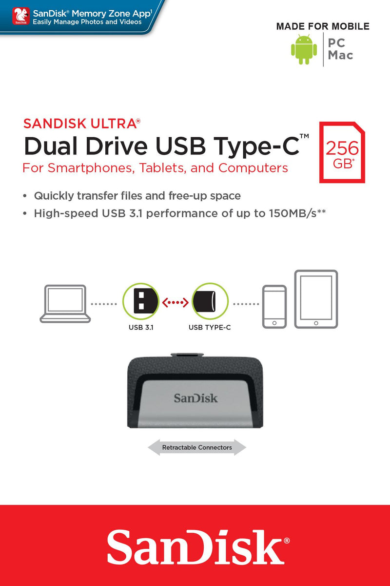 Sandisk Ultra 256GB Dual Drive USB Type-C