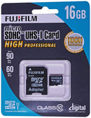 Fuji Film 16GB High Professional Micro SDHC Card, Class 10, UHS-I with adapter
