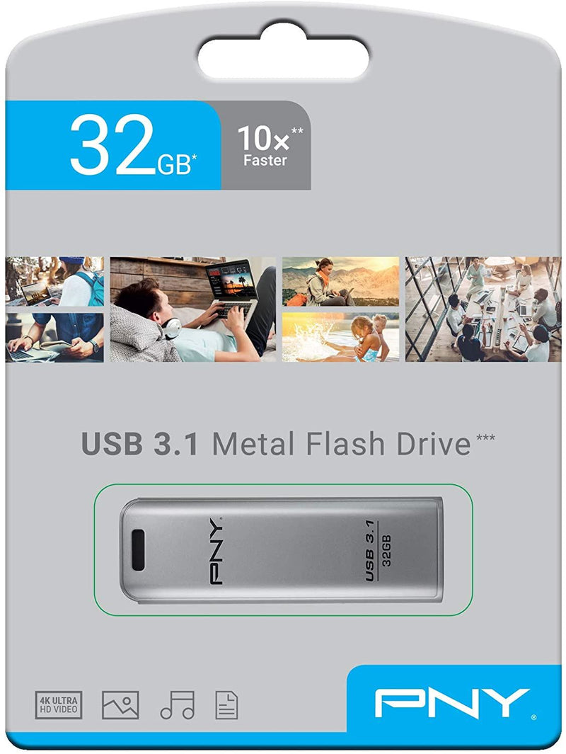 PNY Steel 32GB USB3.1 Metal USB Drive