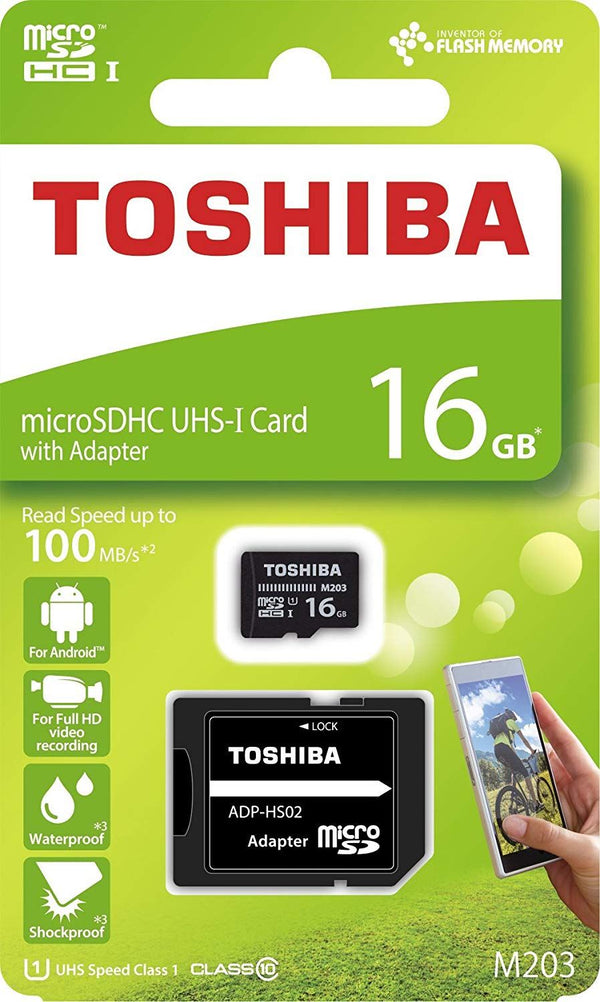 Toshiba Exceria 16GB MicroSDHC Card with Adapter 100MB/s
