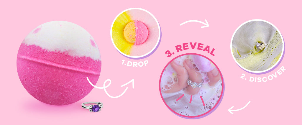 Royal Essence ring bath bomb instructions