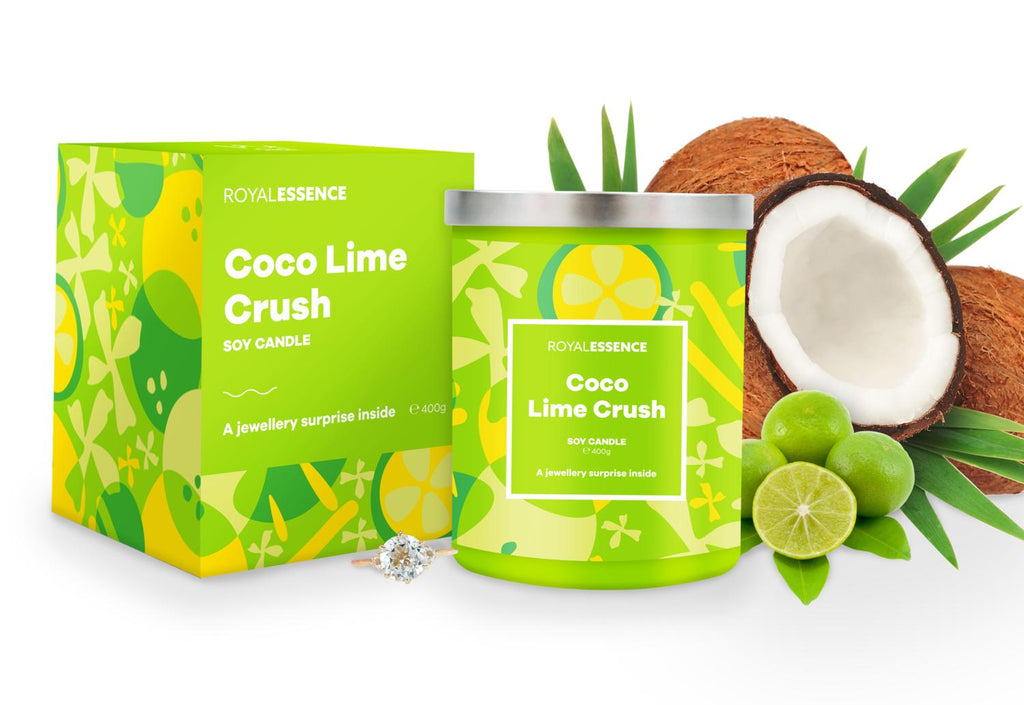 Coco Lime Crush Jewellery Candle - Millennial Candle gifting guide