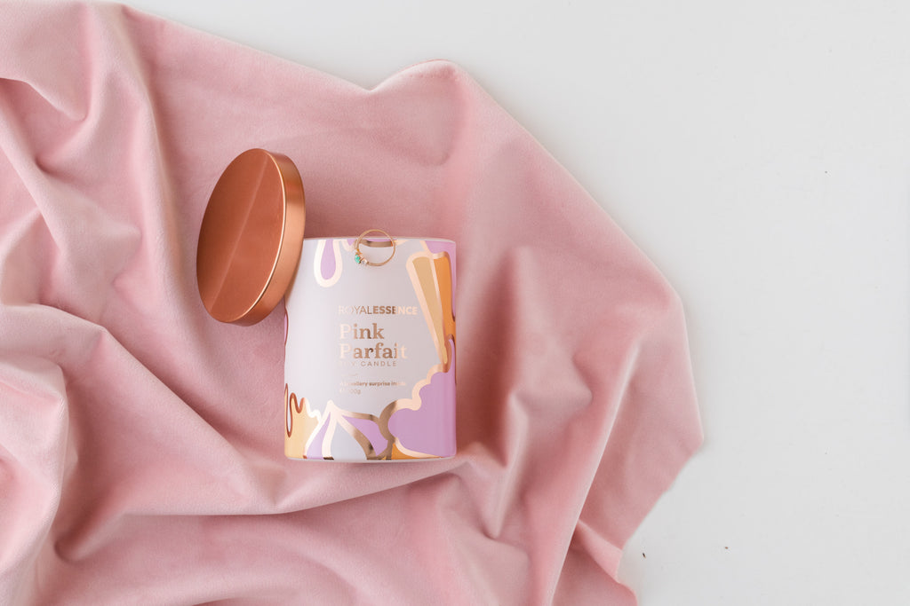 Rose Gold Ring Candle Royal Essence