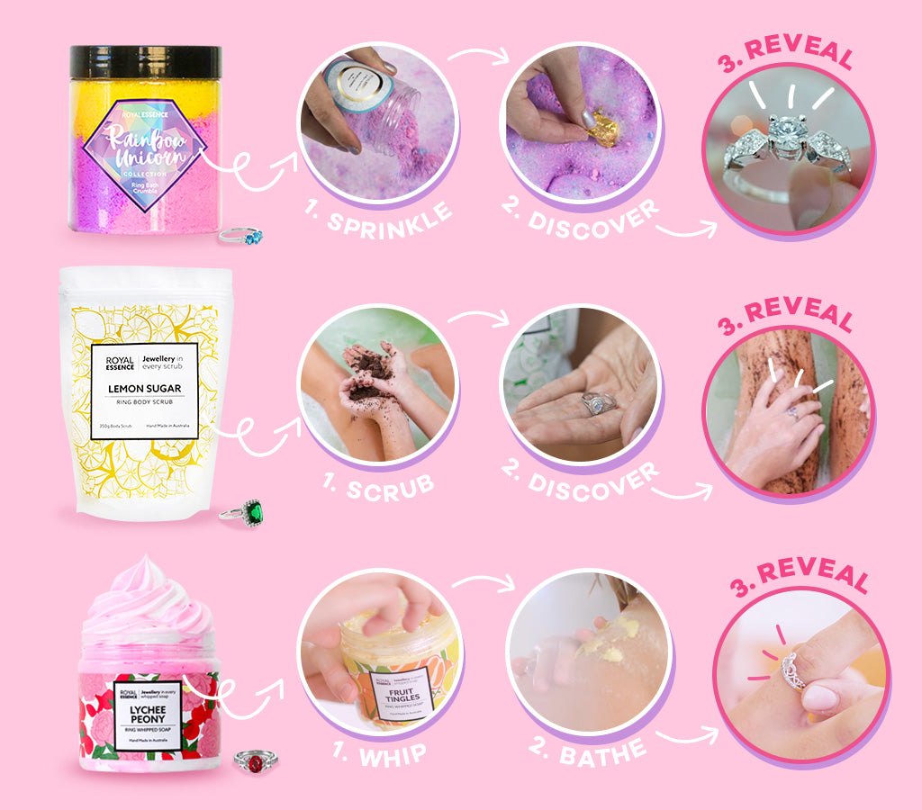 Royal Essence ring bath products instructions
