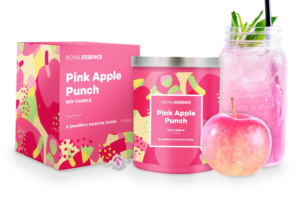 Pink Apple Punch Jewellery Candle