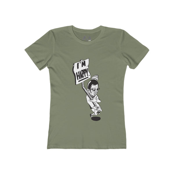 """I'm Happy"" Women's The Boyfriend Tee by Ortie - GaleraCollective"