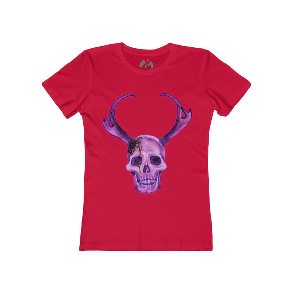 """Purple Skull"" Women's The Boyfriend Tee by Ripes - GaleraCollective"