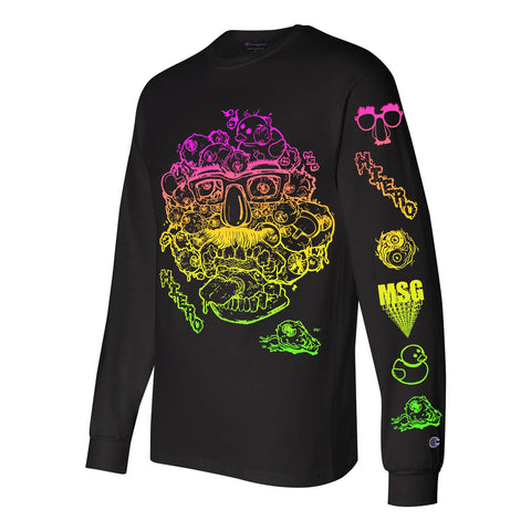 """EYE against EYE"" Champion Long Sleeve Tee by Hiero Veiga"