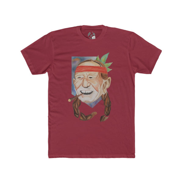 Willie Nelson Ortworks Men's Cotton Crew Tee by Ortie - GaleraCollective