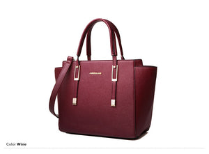 AMELIE GALANTI Fashion  Women Hsndbags High Quaility PU Messenger Casual Trapeze Solid Famous Brands Versatile Zipper Color - leathernbags
