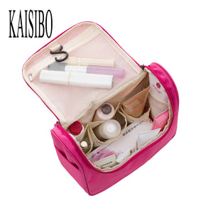 Beautician Waterproof Cosmetic Bags Bath Wash Makeup Make Up Cosmetic Bag Korean Organizer Storage Travel Toiletry Bags - leathernbags