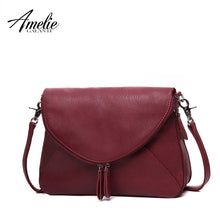 AMELIE GALANTI Fashion Women Messenger Bags Pachwork Envelope Casual Shoulder Bag High Quality PU Soft Zipper Solid New Fashion - leathernbags