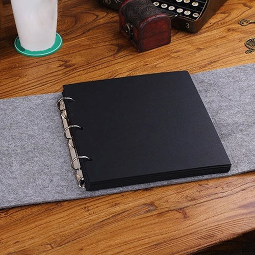 New Three Size S M L Velvet Felt Cover Handmade DIY Vintage Photo Album HOT Available for 60 Pcs Photos - leathernbags