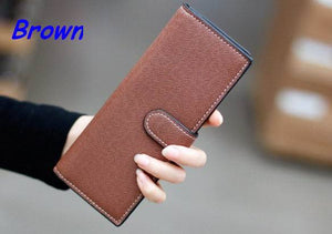 55card leather women female business id credit card holder case passport cover wallets porte carte card holder carteira feminina - leathernbags