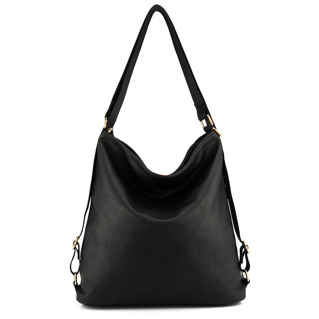 Artificial leather shoulder bag female big handbag women black color new arrival totes bags woman hobos - leathernbags