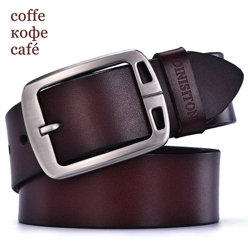DINISITON mens cow genuine leather man belt luxury strap male belts for men new fashion vintage pin buckle Designer belt brand - leathernbags
