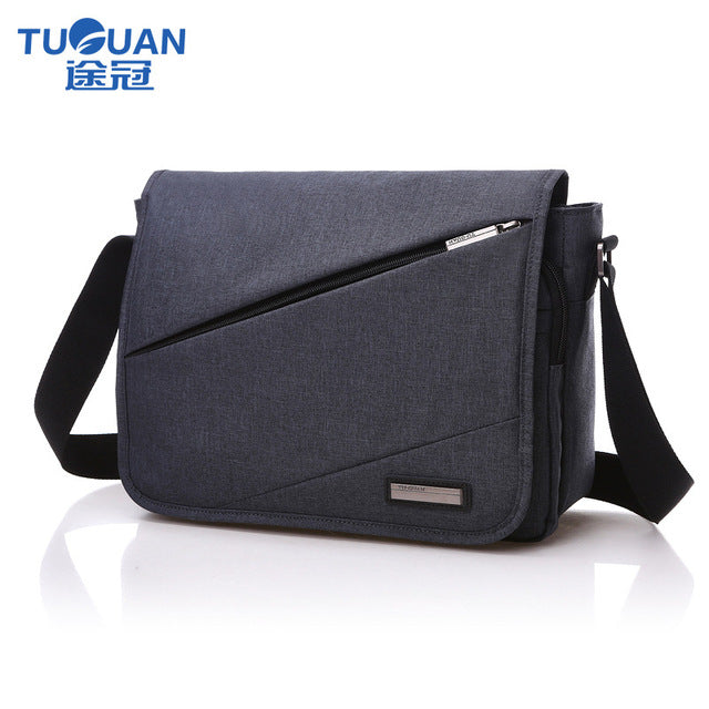 New TUGUAN Brand Designer Unisex Men Canvas Messenger Bags Korean Style Girl Cross Body Shoulder Bags for A4 Magazine - leathernbags