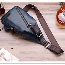Hot Retro zipper designer men chest bags famous brand man travel bag high quality vintage leather man fashion bag crossbody bag - leathernbags