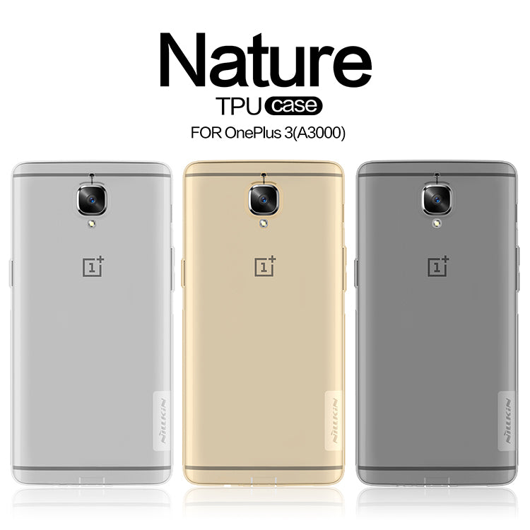 Oneplus 3 case NILLKIN Nature clear TPU Ultra Thin Case For Oneplus 3T One plus 3 Oneplus3 Oneplsu A3000 Soft Back cover case |  USA I USA - leathernbags