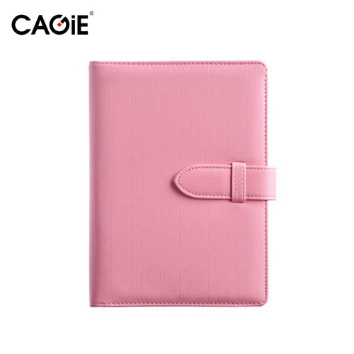 CAGIE A5 Fashion Spiral Pu Leather Notebook Candy Colors Women Personal Diary Planner Agenda Filofax Sketchbook Travel Journal - leathernbags