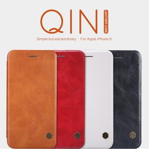 "NILLKIN Qin Series Wallet Flip Leather Case For Apple iPhone 6S (4.7"") Genuine Flip Leather Case For iphone 6 by Retail Package"