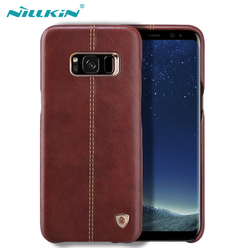 For Samsung Galaxy S8 Case Original Nillkin Englon Leather Cases For Samsung Galaxy S8 Plus Phone Back Covers - leathernbags