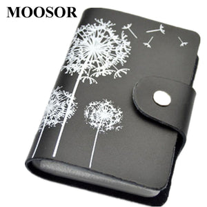 2017 Genuine Leather Print Women Business Card Holder 11 Colors ID Card Credit Card Holder Protector Organizer Card Wallet DC57 - leathernbags