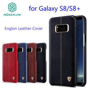 Original Nillkin Englon cover for samsung galaxy s8 case luxury PU Leather Vintage back cover for galaxy s8 plus S8+ phone cases - leathernbags