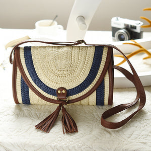 Casual Women Messenger Bags Small Crossbody Female Summer Fashion Handmade Beach Bags Woman Woven Straw Summer High Quality - leathernbags