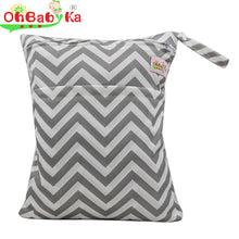 OhBabyKa Baby Diaper Bags Reusable Wet Dry Bag Double Zipper Waterproof Diaper Cover for Baby Changing Bag Washable Nappy Bags |  USA I USA - leathernbags