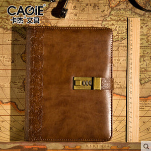 CAGIE 2016 Vintage Pu Leather Spiral Composition Book A5 Creative Paper Personal Diary Sketchbook Planner Organizer Stationery - leathernbags