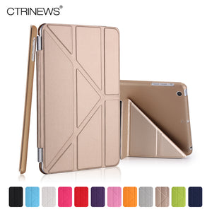 CTRINEWS Fashion Slim PU Leather Smart Case for iPad mini 1 2 3 reitna Hard PC Back Cover for Apple iPad mini 2 Stand Cover Case - leathernbags