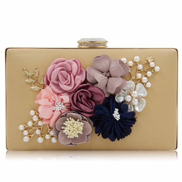 Milisente 7 Colors Women Clutch Lady Flower Day Clutches Female Wedding Purses - leathernbags